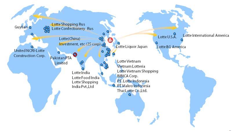 Lotte Global Map